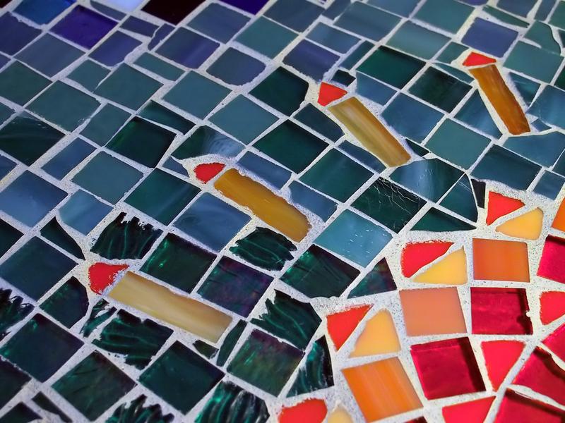 Bistro Mosaik Tisch 60cm 4 Motive Mosaicos Mosaiquismo