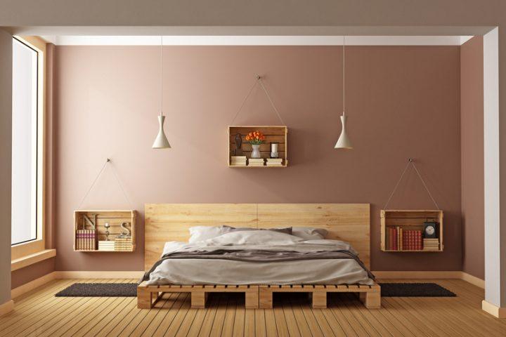 Nachttisch Holzkisten