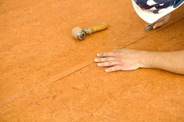 PVC Boden zerkratzt