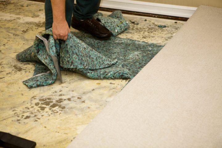 Teppich unter PVC-Boden