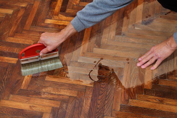 Parkettboden  Parkettboden ausbessern leicht gemacht - Anleitung in 4 Schritten
