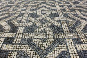 Pflastersteine Basalt