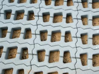 Rasengitterplatten Beton im Einsatz