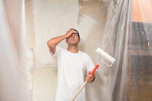 Raucherwohnung Wände streichen