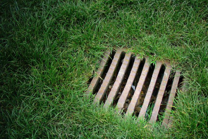 Regenwasserversickerung auf dem Grundstück