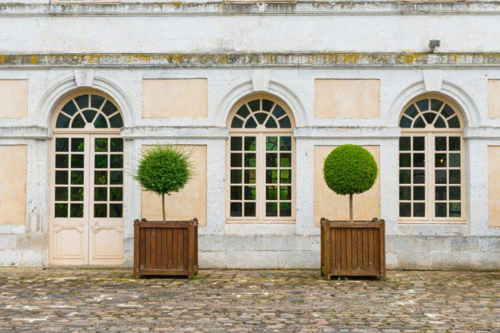 Rundbogenfenster Gardinen