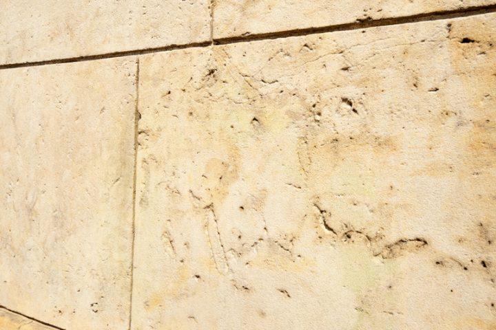 Sandsteinmauer verfugen