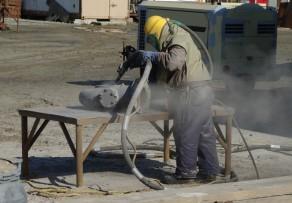 Sandstrahlen mit Kompressor