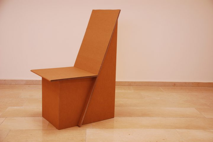 Schreibtisch Stuhl aus Pappe