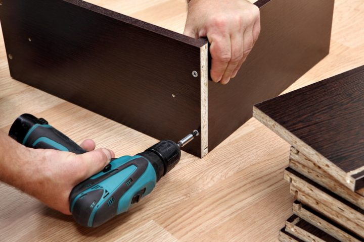 Schubladenbox Holz Eigenbau
