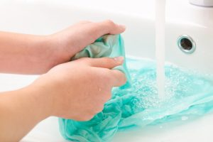 Seide waschen