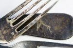 Silberbesteck beschädigt