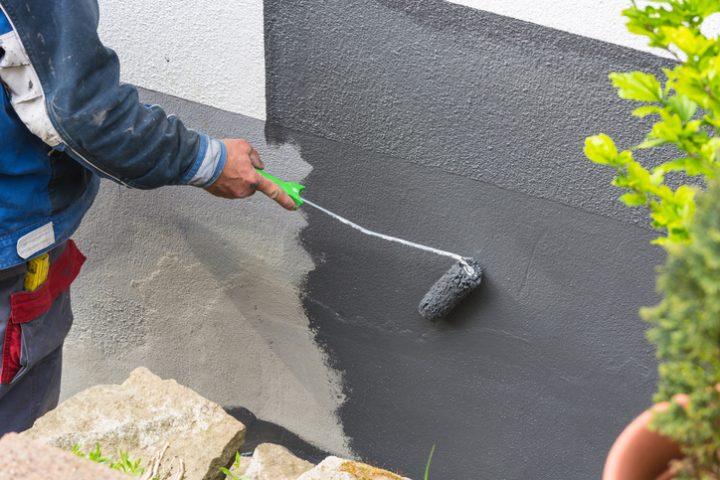 Beton mit Silikatfarbe streichen