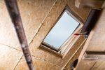 Spanndecke für schräges Dach