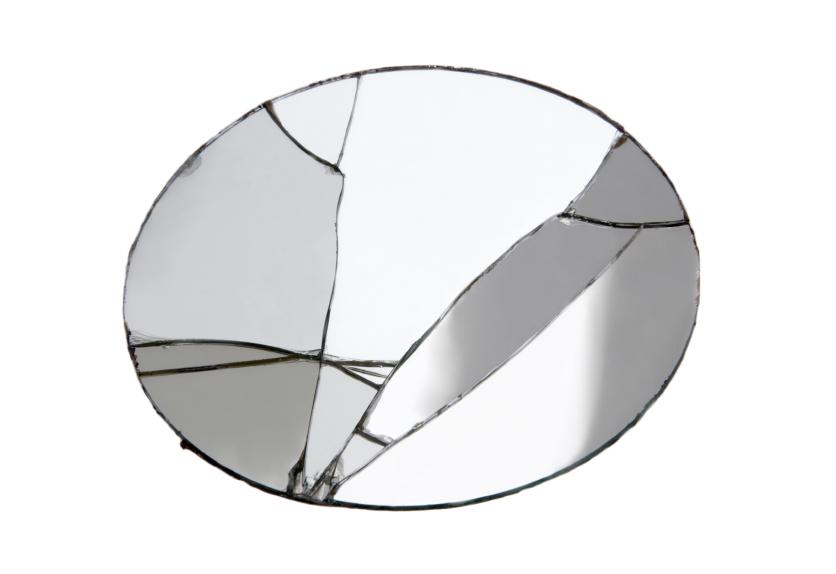 Spiegel nordal spiegel met plank metaal goud cm with for Spiegel entsorgen