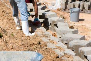Stützmauer Betonsteine