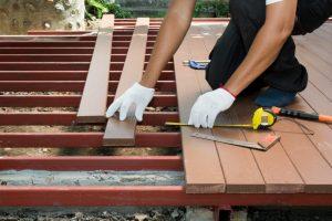 Stahlträger Unterbau Terrasse