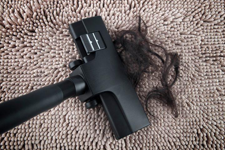 Staubsauger Haare saugen