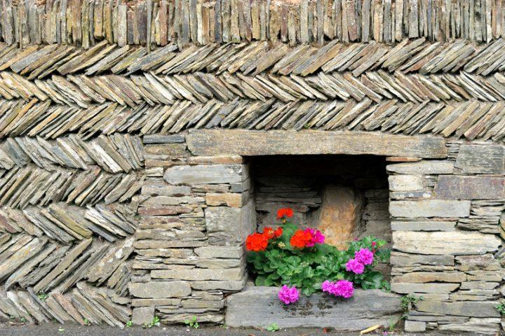 Steinmauer Zaun