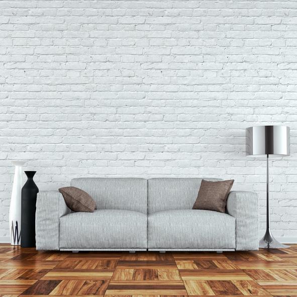 Die Steinwand Weiß Zu übermalen, Ist Eine Option Der Modernen  Innenraumgestaltung