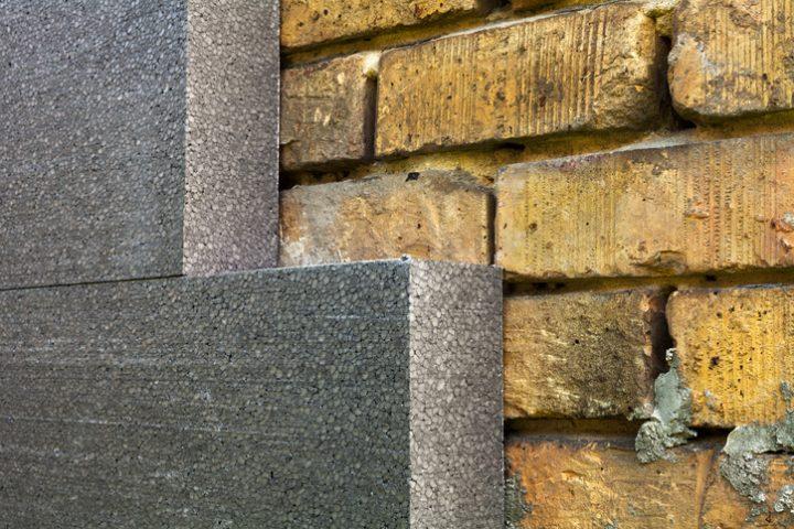 Steinmauer aus Styropor