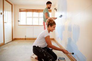 Wand ohne Abkleben streichen