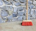 Streifenfundament-Gartenmauer