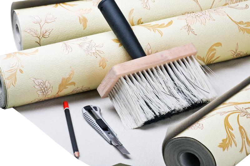 tapezieren und streichen wie geht man nacheinander vor. Black Bedroom Furniture Sets. Home Design Ideas