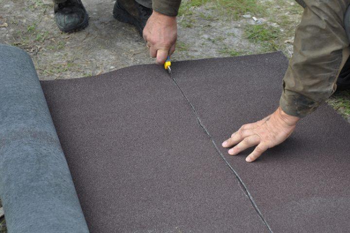 Dachpappe schneiden