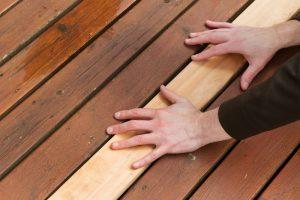 Terrassenholz verlegen