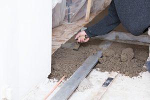 Terrassenplatten auf Beton verlegen
