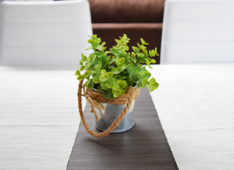 den tisch mit pflanzen aufpeppen sch ne gestaltungsideen. Black Bedroom Furniture Sets. Home Design Ideas