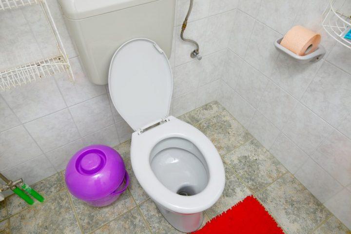 Toilettensitz Befestigung
