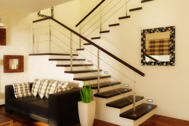 Treppenhaus Einfamilienhaus Zwischenpodest Einer Treppe » Arten U0026 Normen