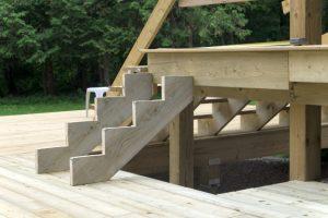 Treppe befestigen