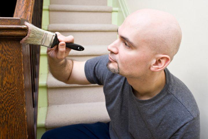Treppe beizen