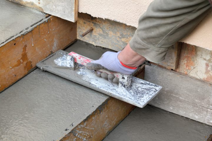 Treppe betonieren