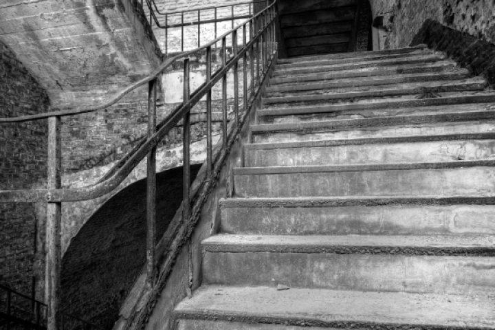 Treppe sandstrahlen