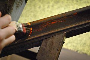Treppengeländer Farbe entfernen