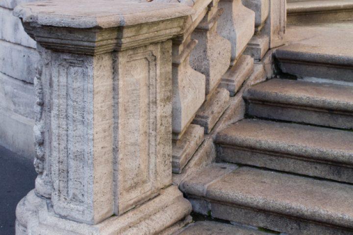Treppengeländer gemauert