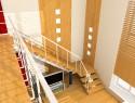 Die Wand im Treppenhaus stilvoll gestalten