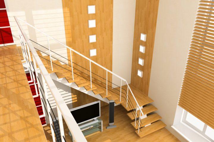 Treppenhaus gestalten farbe  Treppenhaus-Wand gestalten » Die schönsten Ideen & Tipps