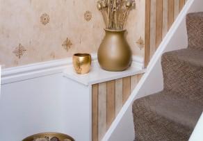 treppenhaus tapezieren so geht 39 s am besten. Black Bedroom Furniture Sets. Home Design Ideas