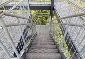 Treppenschutzgitter einseitige Befestigung