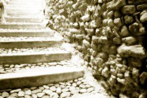 Treppenstufen verlegen