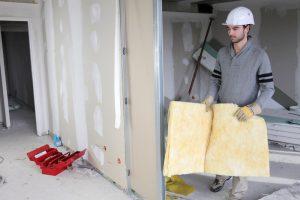 Trockenbauwand mit Tür