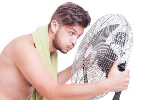 Ventilator Nasses Handtuch