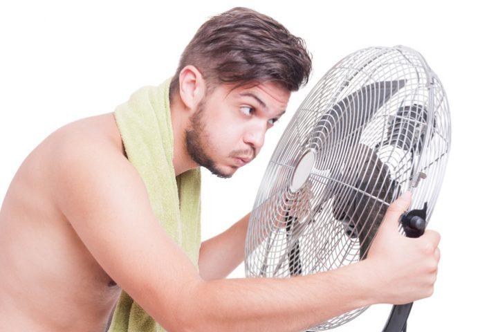 Ventilator feuchtes Handtuch