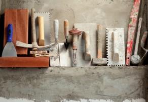 Verputzen die Werkzeuge