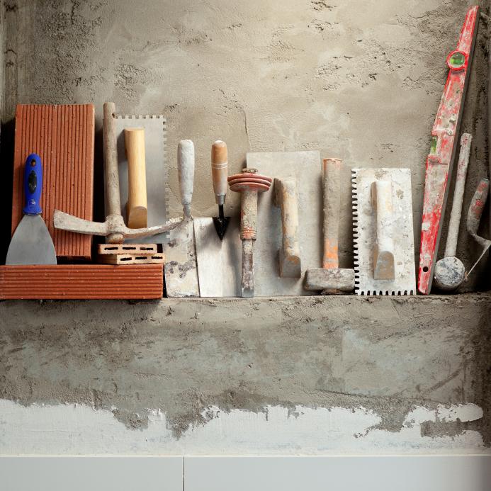 verputzen diese werkzeuge kommen zum einsatz. Black Bedroom Furniture Sets. Home Design Ideas